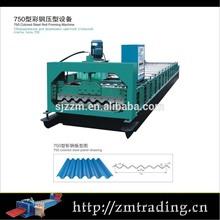 Galvanisé tôle ondulée métal pliable machines