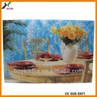 New designer vintage flowers printing pictures lenticular 3d