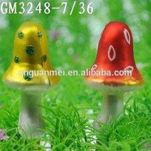 Glass Cute Little Mushroom for Decoration
