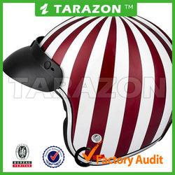 High quality unique fiber glass ECE Certification Half Face Motorbike helmet