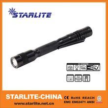 pocket plastic stand or hand operate led emergency flashlight