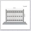 Decorative Ornamentals Metal Garden Fencing