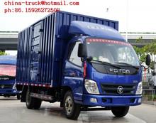 foton cargo trucks,110HP van trucks car,Foton 4*2 van van truck
