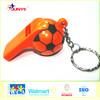 Ningbo Junye promotion gift for cute football plastic whistle