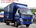 4*2 110hp van camión, camiones foton, foton pequeña furgoneta camiones para la venta