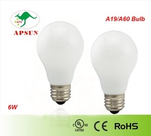 edison style light bulbs 6w led glass bulb with UL