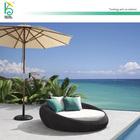 new design garden sunbed outdoor round chaise lounge