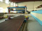 stable steel conveyor worktable long rail pu foam cutting machine