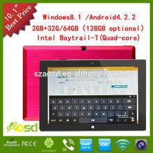 Baytrail Quad Core Z3735D Intel Tablet PC 10 inch Windows GPS 3G