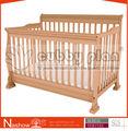 Cubículo plano convertible novo nascido berço de dormir de madeira sólida berçário do bebê berço