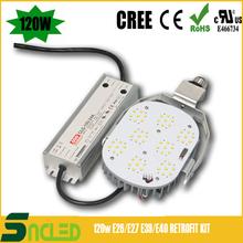 100-277V, 347-480V TUV UL CREE Meanwell driver 5 year warranty 120W LED retrofit kits led street light high power 400W MH/HPS