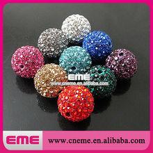 Snooker Shape Dazzing Fashion Three Different Colors Rhinestone Shambhala Beads For Decoration