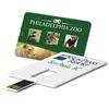 Promotional Custom Credit Card USB 2.0 with Free Sample USB Flash Drive.