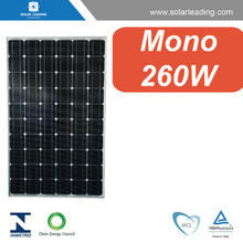 260w monocrystalline solar pv modules for on grid system from solar cell production line