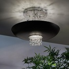Empire Ceiling Light LED With Clear Crystal Beads