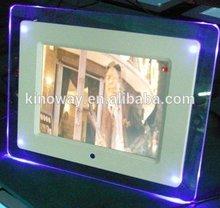 Stylish 8 inch electronic picture frames, led backlit digital photo frame user manual