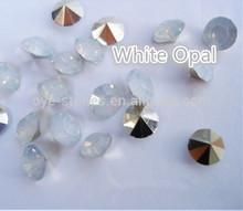 white opal resin chaton,glass chaton,mc point back chaton
