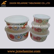 5pcs melamine round storage bowl set-melamine ware