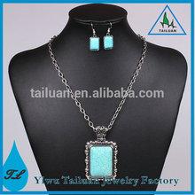 Vintage Square Turquoise Jewelry