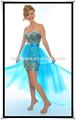 de lentejuelas de cuentas con encaje de tul desmontable de arrastre frontal corto de respaldo a largo vestido de fiesta gl0187