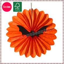 hanging round fan paper holloween items for holloween decoration