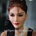 figura del famoso actor del mundo hecha en cera Audrey Hepburn