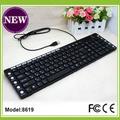 125 teclas de la computadora con conexión de cable del teclado multimedia con conexión de cable del teclado musical