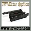 Vector Optics 21mm picatinny rail CNC Lower AK Handguard RIS Quad Rail System for AK 47 AK 74 with Rubber Covers