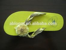 Striping Fashion fleece lined women sandals slipper