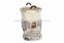 2014 New design round folding polyester laundry hamper