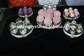 Venta al por mayor de color de siete bola de cristal, sólido de color de cristal globle, esfera de cristal para regalos de empresa