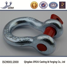 US type Federal specification galvanized red pin shackle