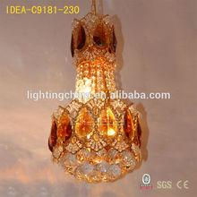 lamp min order design led lamp glass crystal hanging