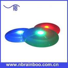 Hot selling top quality light up plastic led frisbee for promotion ABPS021