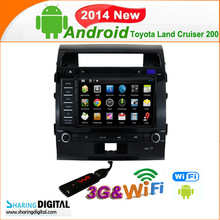 Toyota Land Cruiser 200 Android GPS Sat Nav system with 3G wifi