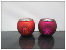 Hot selling 2014 glass christmas ornament for candle decoration
