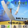 500w aerogenerador de atigrada eje vertical, moulin de jardin, éolienne sur le toit