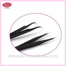 Stainless steel tweezers for eyelash extension