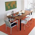 nórdicos country americana vintage madeira mesa de jantar e cadeiras de combinação de fazer o velho ferro forjado mesa reta