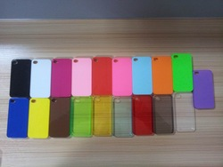 cheap various colour pc mobile phone case for iphone4/5