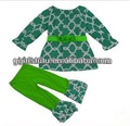 projeto fantástico crianças trevo verde túnica camisa calça japão roupausada com cinto