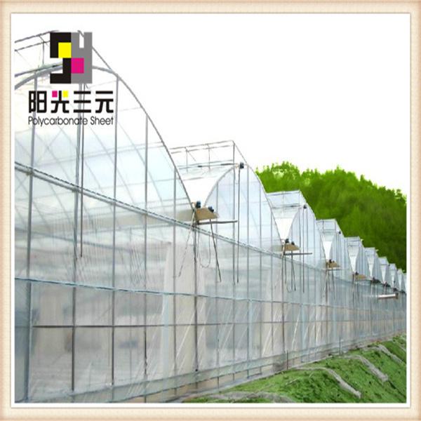 Transparent polycarbonate plastique ondul toiture feuilles pour effet de serre - Serre polycarbonate transparent ...
