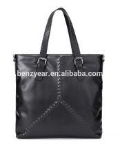 fashion design high quality genuine leather men handbag