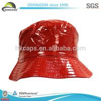Red Custom Plain Plastic Bucket Hat