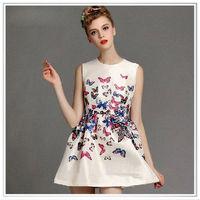 Customized 2014 new design small heart digital printing silk satin fabric