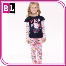 New Arrivals Long-Sleeved Girl peppa pig t shirt Wholesale V-ft006