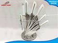 8pc boa qualidade ferramentas faca com punho branco cozinha acessório de caça