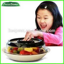 7.5in Low profile alimentos grelha fresco - mantendo airtight tampa placa