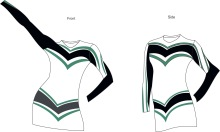 Highlight School and Academy cheerleading uniforms,Dance Wear ,Spirit wear top