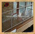 Qingdao alta - calidad de interior de vidrio pasamanos de la escalera / prefabricada de metal barandilla de la escalera, Vidrio laminado de interior cristal barandilla de la escalera